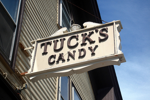 Tuck's Candy is just one of the many pleasures here in Rockport.  Photo courtesy of Flickr.