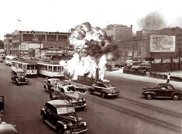 These scenes of violence were common during the Detroit Race Riot of 1943.  Robert Shogan and Tom Craig's book looks at the events before and after the riot.