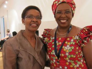 Pumla Gododo-Madkizela and Marguerite Barankitse at the Engaging the Other conference.