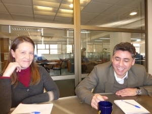 Yunuen Varela and Antonio Campana of the Chilean Fulbright Commission.