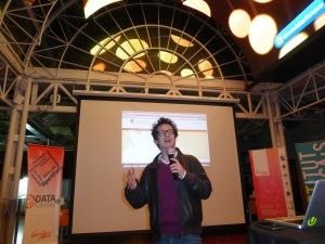 Nicolas Kayser-Bril speaks at Data Tuesday.