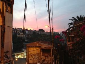 Sunset in Valparaiso.
