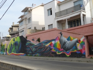 One of many murals throughout the city.