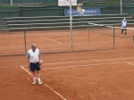 One of many clay tennis courts  at the Estadio Español.