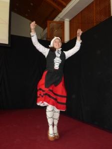 Basque dancing  at the Estadio Español.