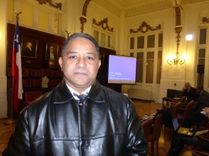 Aurelio Henriquez of Diariodom.com, who flew in from the Dominican Republic for the conference.