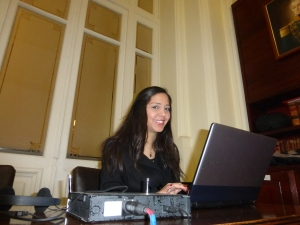 Alejandra Izarra of Venezuela worked at the conference.