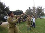 Palestinian scout troop at Quinta Normal.