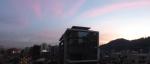 Sunset in Santiago.