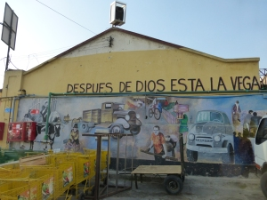 The mural of La Vega that shows the market's swagger.