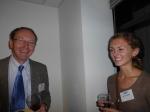Fulbright Scholar Tim Warner, left, and Erin Gogolin, Fulbright daughter, student and blogger.