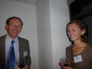 Fulbright Scholar Tim Warner, left, and Erin Gogolin, Fulbright daughter, student and blogger.