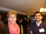 Fulbrighter Deborah Westin and Matias Lee, her sponsor at the University of Chile.