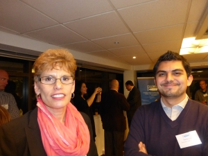 Fulbrighter Deborah Westin and Matias Torres, her sponsor at the University of Chile.