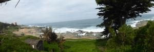 The view of the Pacific Ocean from Pablo Neruda's tomb.