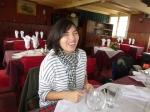 Alejandra Matus at Charo Cofre's restaurant.