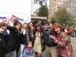 A group of Chileans enjoying early Independence Day celebrations.