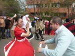 Dancing the cueca.