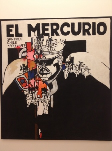 A picture of El Mercurio at the Salvador Allende Museum.
