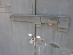 The door through which prisoners were taken at Villa Grimaldi.