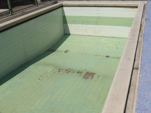 The pool where DINA agents played with their children at Villa Grimaldi.