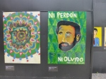 Two pictures drawn by children of disappeared parents at  at the Museum of Memory and Human Rights.
