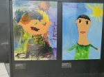 A pair of pictures by children of disappeared parents at  at the Museum of Memory and Human Rights.