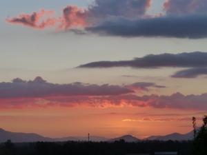 Sunset at Alejandra Matus and Alberto Barrera's house.