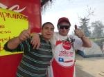 Andres and Patricio at the  fonda at the National Stadium.