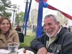 Guillermo Montes and his wife Charo at Parque Ines de Suarez on September 19.