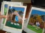 The prize-winning cards of aprilleras from Melipilla.