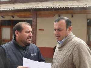 Mario Gebauer, right, the Mayor of Melipilla.