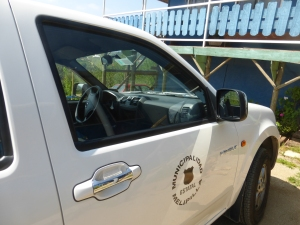 The pick up truck that Mayor Gebauer uses in Melipilla.
