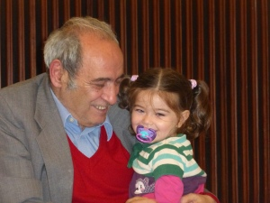 Rafael Gumucio's father with the author's youngest daughter.