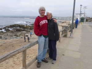Dunreith and I were in Algarrobo this weekend. We 're going to Machu Picchu with Aidan in December.
