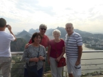 Sarah Cohen, Dunreith, Leandro and me at Sugarloaf Mountain.