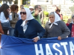 Mothers marching at the Plaza de Mayo.