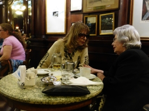 A timeless conversation at Cafe Tortoni in Buenos Aires.