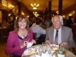A tango champion, right, and his wife at Cafe Tortoni.