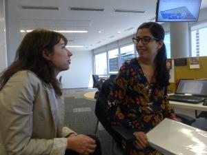 Gaby Bouret and Romina Colman of La Nacion's data team.