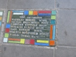 A plaque marking students who studied at the Nicolas Avellaneda school in Buenos Aires.