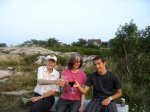 With Papoo and Donnie at the Headlands in Rockport.