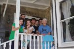 Aidan and the cousins with Babci in Rockport, August 2011.