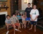 Cousins at Josh and Rebecca's house in Longmeadow