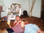 Aidan and Jeff in Cape Cod 2001.