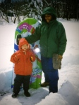 Aidan and Tia in the snow at WMA in 1996.