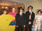 Halloween in high school with Spidey, the Blues Brothers and a Jelly Belly.